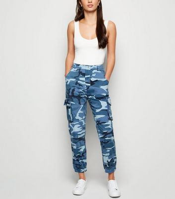 Blue Camo Pocket Utility Jeans