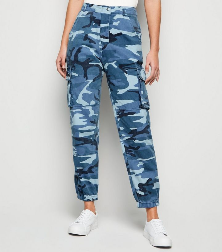 Blue Camo Pocket Utility Jeans  0eb77d06a25