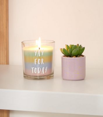Rainbow Yay Slogan Grapefruit Scented Candle