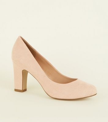 Wide Fit Cream Round Toe Courts