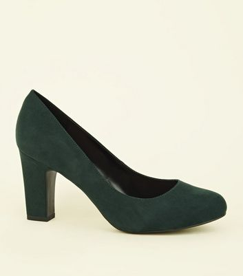 Wide Fit Dark Green Round Toe Courts