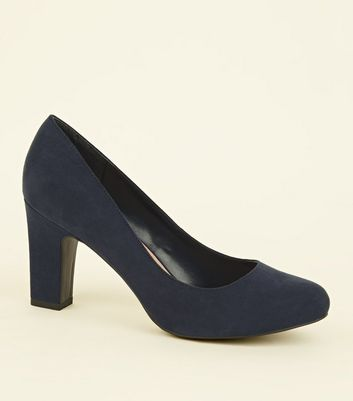 Wide Fit Navy Round Toe Courts