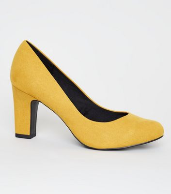 Wide Fit Mustard Round Toe Courts