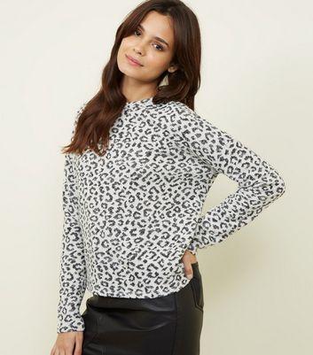 Off White Leopard Print Glitter Top | New Look