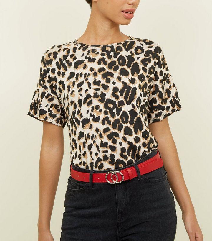 d080083770c1 Brown Leopard Print Oversized T-Shirt | New Look