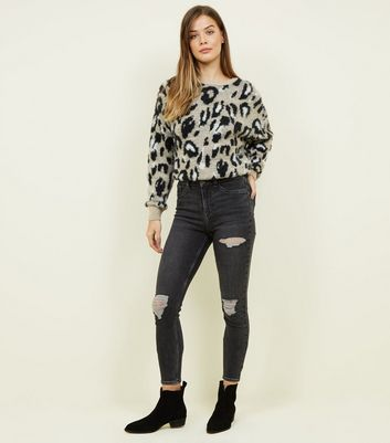 Black Washed High Waist Super Skinny Hallie Jeans