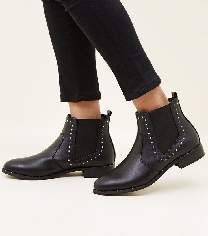 9d64fc6f0f76 ... Girls Black Studded Chelsea Boots. ×. ×. ×. Shop the look