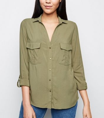 Tall Khaki Lightweight Utility Shirt