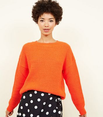 Bright Orange Slouch Fit Jumper