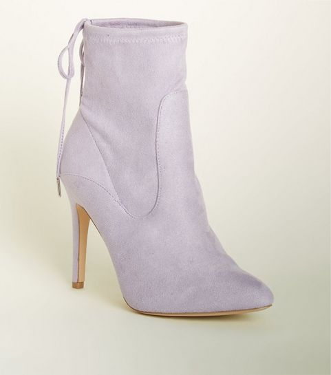 c727c945edc ... Wide Fit Lilac Stiletto Sock Boots ...