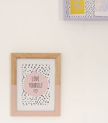 Pale Pink Love Yourself Photo Frame