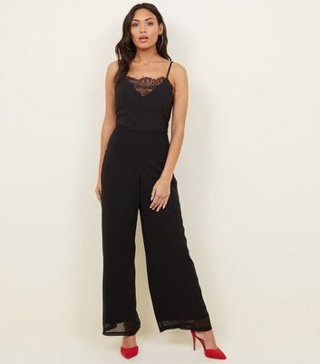Mela Black Lace Front Jumpsuit