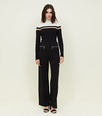 Cameo Rose Black Zip Pocket Trousers