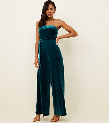 53a1fe6e9d11 Jumpsuits playsuits culotte jumpsuits rompers new look jpg 480x545 Strapless  crochet jumpsuit hunter green