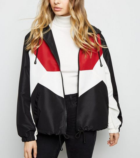 Black Colour Block Windbreaker · Black Colour Block Windbreaker ... b0da58c766d6b