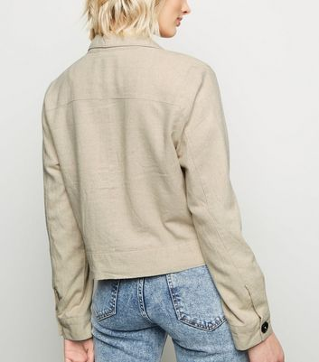 New Look Womens Cropped Utility Jacket