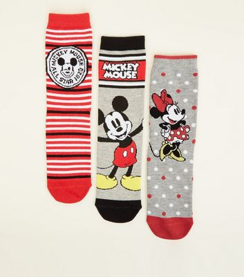 3 Pack Mickey and Minnie Mouse Disney Socks