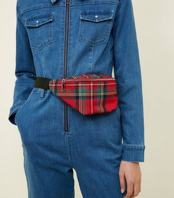Red Tartan Bum Bag