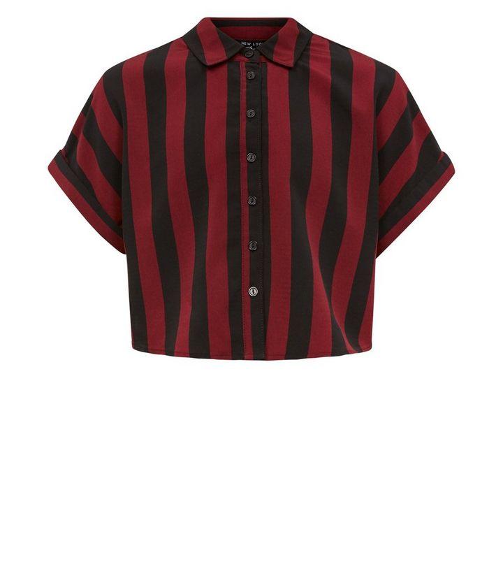 17aa37557c5a Girls Red Stripe Boxy Shirt