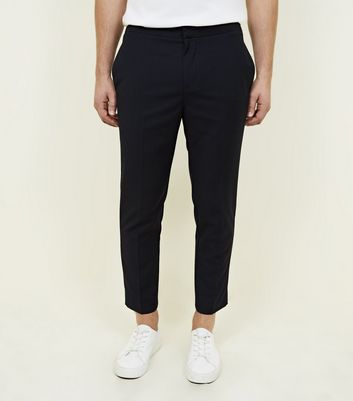 Navy Pull-On Slim Fit Trousers