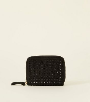 Black Studded Cardholder