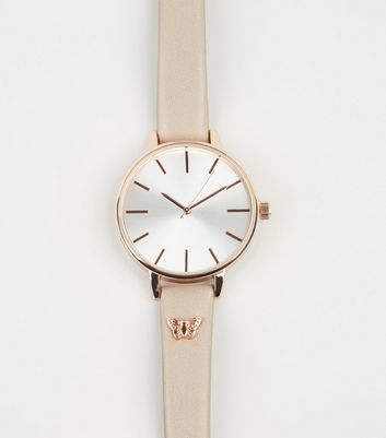 Light Brown Butterfly Strap Analogue Watch