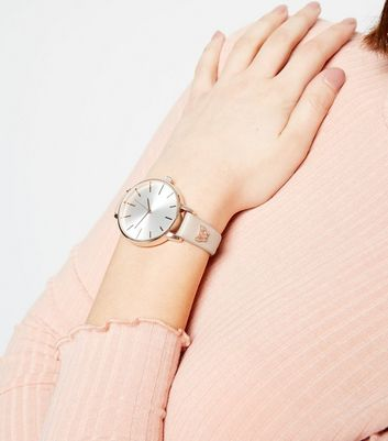 Light Brown Butterfly Strap Analogue Watch New Look