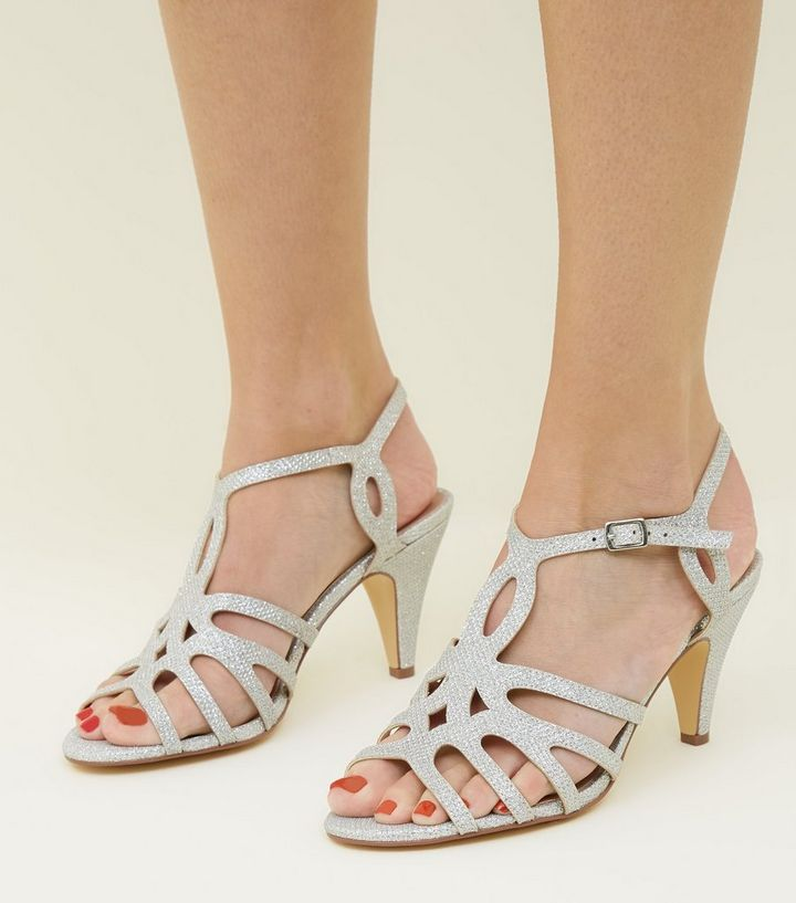 a00ccc671 ... Wide Fit Silver Glitter Strappy Dancing Shoes. ×. ×. ×. Shop the look