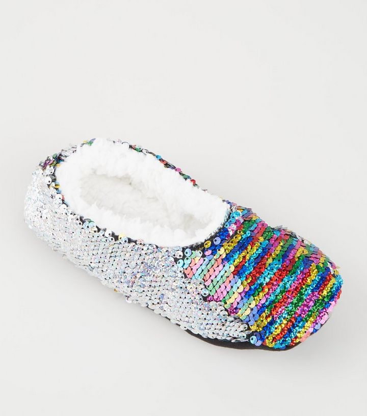 0e09142c0765 ... Rainbow 2-Way Sequin Fluffy Ballet Slippers. ×. ×. ×. Shop the look