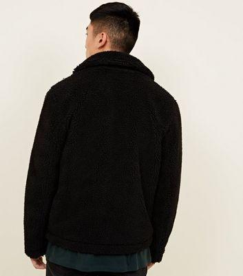 schwarze teddyfell jacke