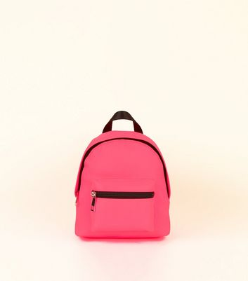 Bright Pink Mini Backpack