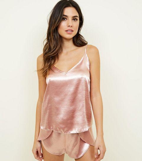 ... Rose Gold Satin Cami and Shorts Pyjama Set ... fd7e0a263