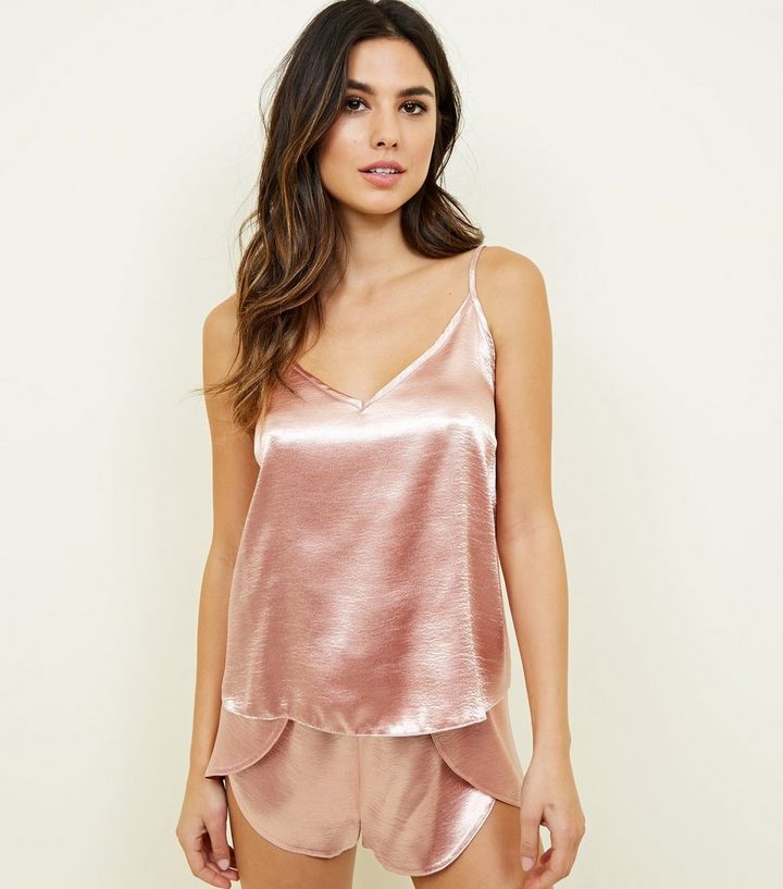 énorme réduction 72067 8b531 Rose Gold Satin Cami and Shorts Pyjama Set Add to Saved Items Remove from  Saved Items