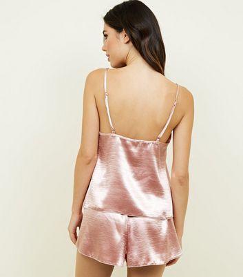 877f56c3d2 Rose Gold Satin Cami and Shorts Pyjama Set New Look