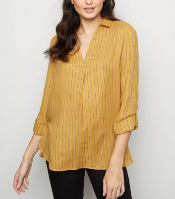 Yellow Stripe Overhead Shirt