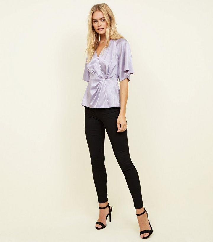 ee52d58dbbe621 ... Lilac Herringbone Satin Twist Front Top. ×. ×. ×. Shop the look