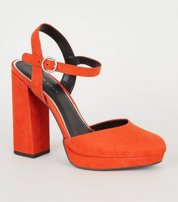 61f15e63d44d67 Orange shoes womens coral footwear new look jpg 481x545 Reddish orange shoes