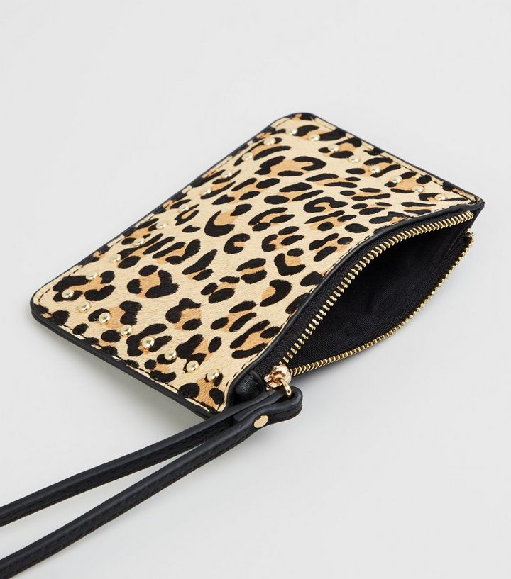 43a13b0fc ... Brown Leather Leopard Print Coin Purse. ×. ×. ×. Shop the look