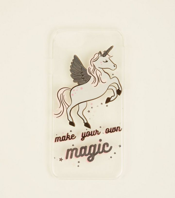 Clear Unicorn Slogan iPhone 6/6s/7/8 Case Add to Saved Items Remove from  Saved Items