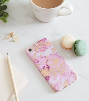 Bright Pink Marble Effect iPhone 6/6s/7/8 Case
