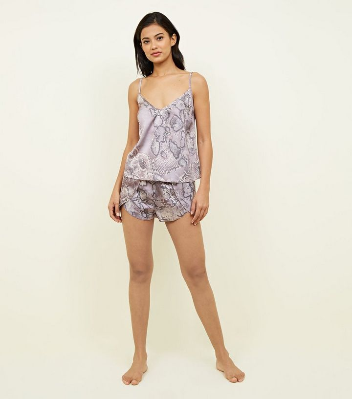 ... Lilac Snake Print Pyjama Set. ×. ×. ×. Shop the look b5287f054