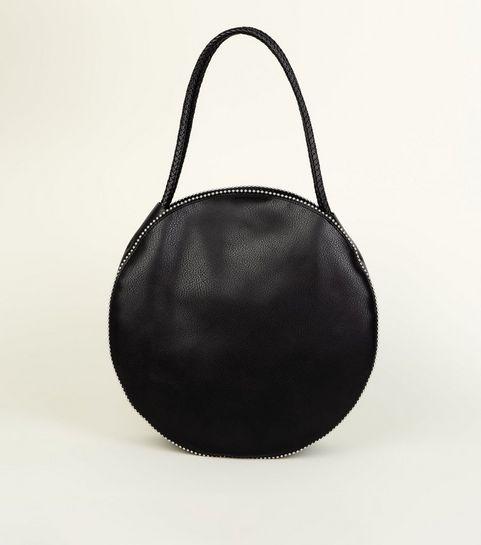... Black Studded Round Tote Bag ... 1815e5319f287