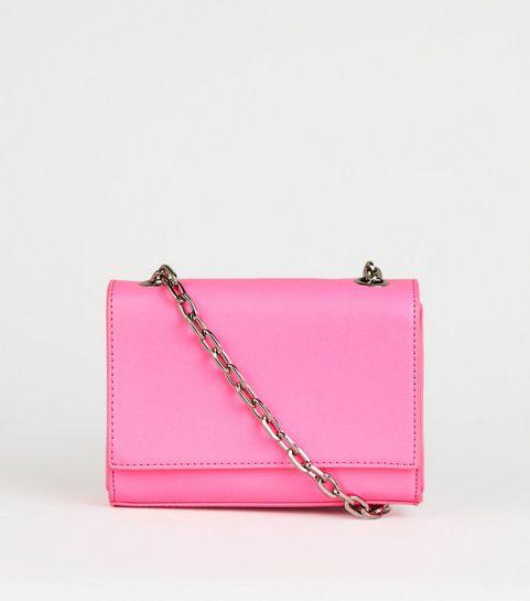 Bright Pink Neon Crossbody Bag