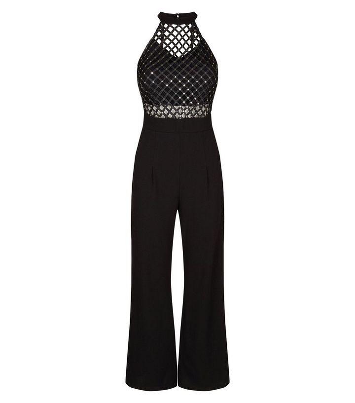 e8d17e2edb53 ... Cameo Rose Black Lattice Bodice High Neck Jumpsuit. ×. ×. ×. Shop the  look