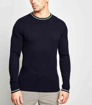 a8d1c0bb8c6804 Men's Knitwear | Men's Knitted & Cable Knit Jumpers | New Look