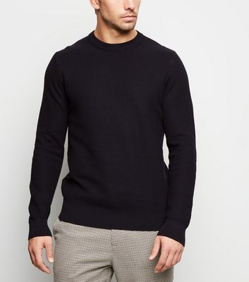 Navy Honeycomb Knit Jumper