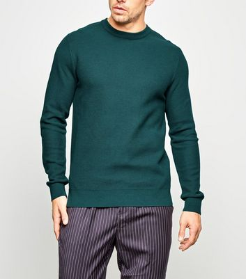 Teal Honeycomb Knit Jumper