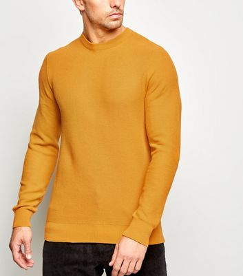 Mustard Honeycomb Knit Jumper