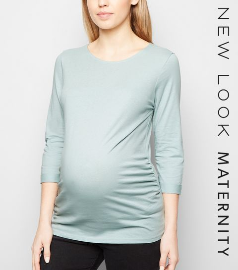 83e3187544d ... Maternity Mint Green 3 4 Sleeve Top ...