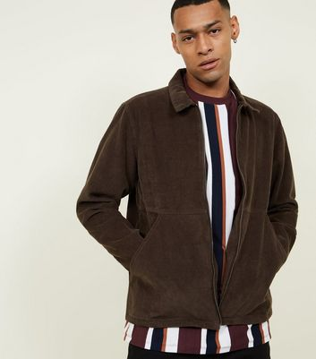 Khaki Corduroy Zip Through Shacket